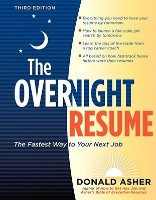 The Overnight Resume By Asher, Donald